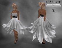 Ecarlate - Couture, Gray Dress Gown formal / Robe de soirée décontracté formelle Grise Court - Fr