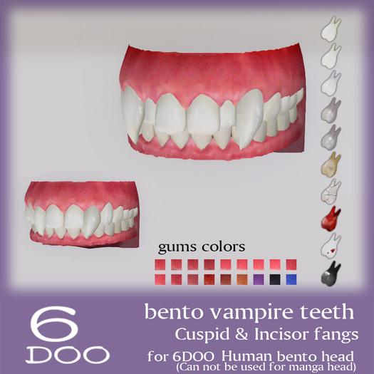 *6DOO* bento vampire teeth