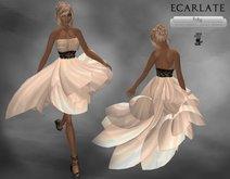 Ecarlate - Couture, Beige Dress Gown formal/ Robe de soirée décontracté Beige Court - Frity