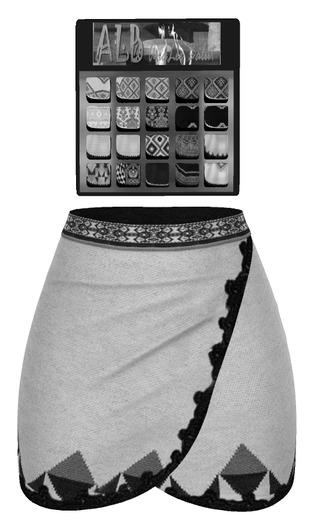 ALB VINTER skirt DEMO MESH - SLink Maitreya Belleza