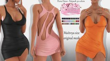 Fiora EXCLUSIVE Female Dress Mesh- MAITREYA LARA - FATPACK 30 Color HUD CB collection
