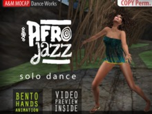 A&M: AFRO Jazz - solo dance (BENTO hands) :: African Tribal style dance :: #TAGS - wild, ethnic, africa, samba, mosh