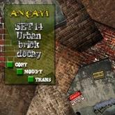 [ ANCAYI ] SET 14 Urban Brick Decay