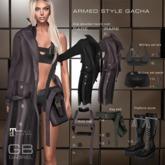 8.::GB::Military set bra / Dark olive