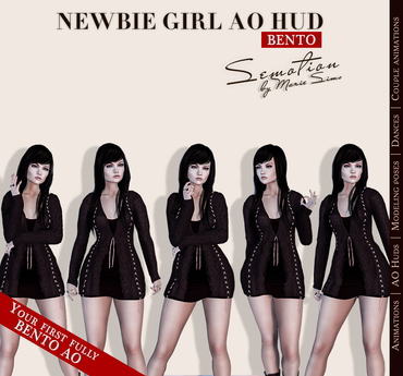 SEmotion Newbie Girl AO HUD v.3.8 - Your first fully BENTO hands AO