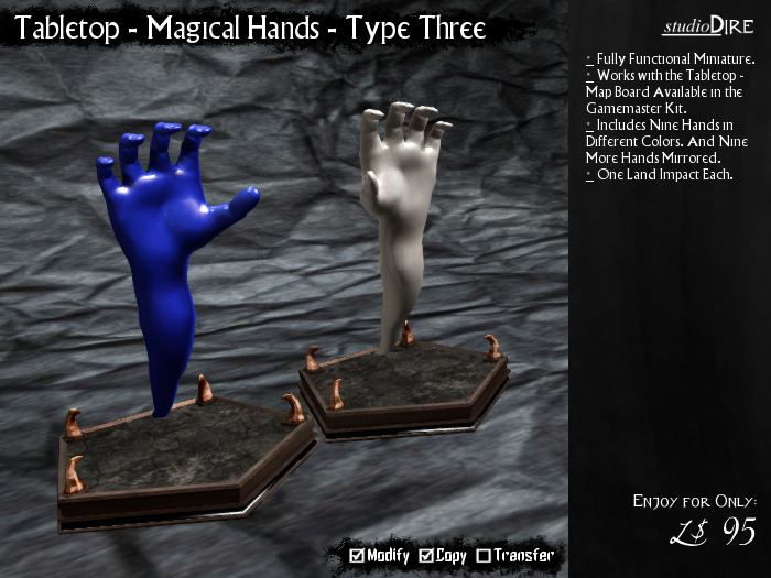 /studioDire/ Tabletop - Magical Hands - Type Three
