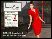 LUXE Paris PIERCED Dress in Red