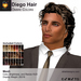 A&A Diego Hair Mesh Ombre Colors Pack. Mens mesh hairstyle
