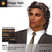 A&A Diego Hair Mesh Brown Colors Pack. Mens mesh hairstyle