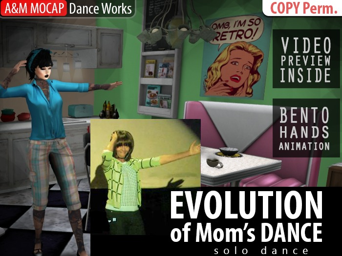 A&M: Evolution of Mom's Dancing (BENTO) - solo dance animation :: #TAGS - Michelle Obama dance with Jimmy Fallon show