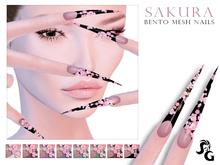 ::SG:: Sakura Nails. EVE-VISTA-MAITREYA-SLINK BENTO