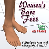 Women's Bare Feet 2.0 Sculptie Feet with Toes