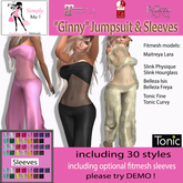 """[Simply Me!] """"Ginny"""" Jumpsuit with Sleeves - Maitreya, Belleza, Slink, Tonic"""
