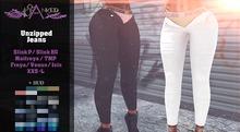#Cranked# Unzipped Jeans