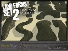 Skye Land Forms Building SET TWO Ramps & Platforms
