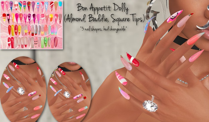 ~GD~Bon Appetit Dolly(3 Pack) - Maitreya Bento Hands