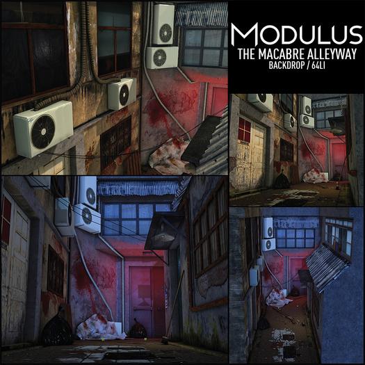 Modulus - Macabre Alleyway - Backdrop