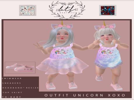 ::BTF::Outfit Unicorn Xoxo