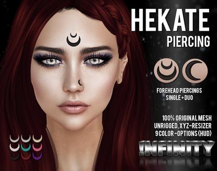 !NFINITY Hekate Forehead Piercings (add/wear)