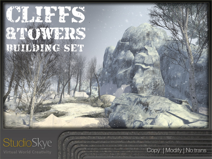 Skye Cliff & Tower Building Set