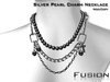 :Fusion: Chained Peal Necklace [Silver]