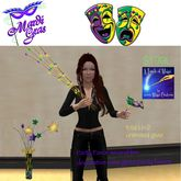 Mardi Gras Party Favor Givers Masks,Beads,animated holders(bag)