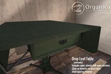 [ Organica ] Drop Leaf Table (avocado green)