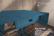 [ Organica ] Drop Leaf Table (bright blue)