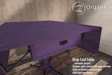 [ Organica ] Drop Leaf Table (lavender purple)