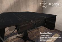[ Organica ] Drop Leaf Table (licorice black)