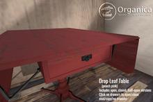 [ Organica ] Drop Leaf Table (peach pink)