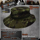 D1-MTG StreetFighter Boonie Hat Cadpat Woodland