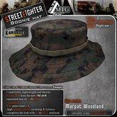 D1-MTG StreetFighter Boonie Hat Marpat Woodland