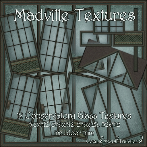 Madville Textures - Conservatory Glass Textures, Doors and Windows, tagSteampunk