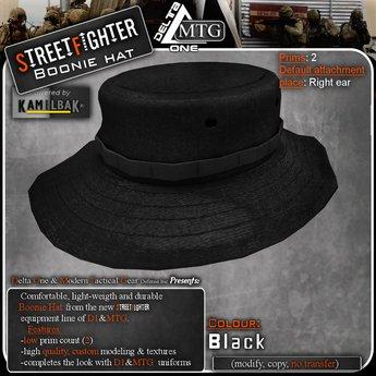 D1-MTG StreetFighter Boonie Hat Black