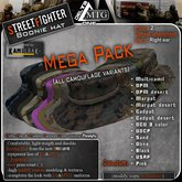 D1-MTG StreetFighter Bonnie Hat MEGA PACK, all camo variants in 1