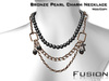 :Fusion: Chained Pearl Necklace [Bronze]