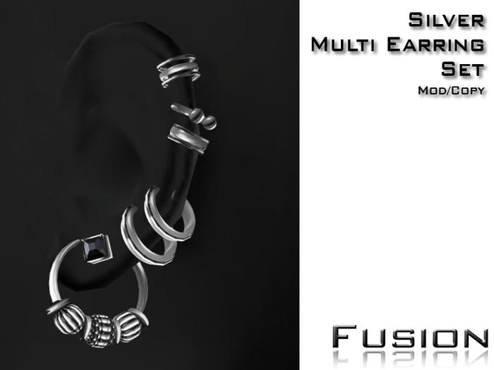 :Fusion: Multi Earrings [Silver]