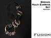 :Fusion:Multi Earrings [Bronze]