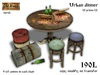 Urban dinner / round table with chairs - Old World - Hobo / Urban Furniture
