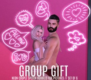 BACKDROP CITY - VALENTINES GIFT NEON SET OF 6 CUTE COUPLE NEONS  // BY EMILY C  ( GET IT FREE INWORLD )