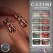 CAZIMI: Nails - Ornate Letters & Lipstick SALE RACK
