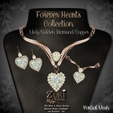 Zuri's Forever Hearts Jewelry Collection - Misty/Golden Dia/Copper