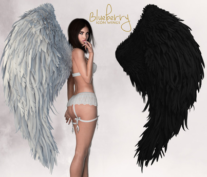 Blueberry - Icon - Bento Angel Wings - Black