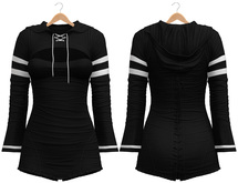 Blueberry - Laura - Sweater and Corset Dress - Black