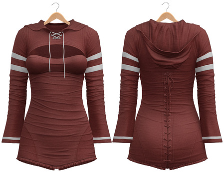 Blueberry - Laura - Sweater and Corset Dress - Red