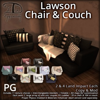 [DDD] Lawson Couch & Chair Living Set (PG)