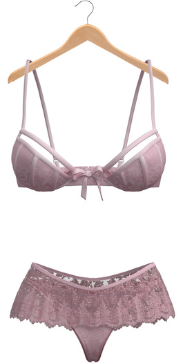 Blueberry - Icon - Lingerie Set - Soft Pink