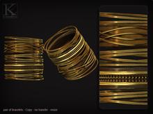 KUNGLERS - Melissa bracelets - Golden