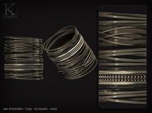 KUNGLERS - Melissa bracelets - Silver